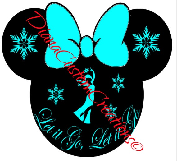 Elsa Minnie Head Let it Go SVG Cricut Silhouette