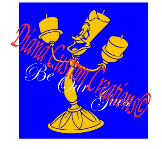 Disney, Lumiere SVG, Beauty and the Beast, Lumiere, Be our guest, SVG, JPG, Cricut, Silhouette