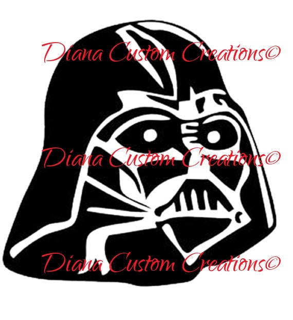 Darth Vader Head SVG png jpg dxf eps cricut and silhouette