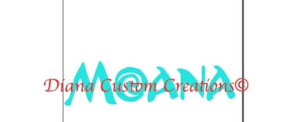 Moana Name SVG Cricut Silhouette