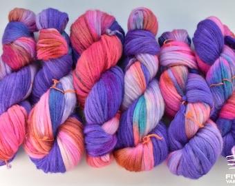 Handdyed yarn FingeringSport Hand dyed yarn- Absolulu! Hand dyed sock yarn Superkid MohairMerino Blend Fingering yarn
