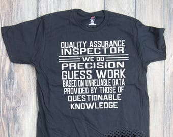 Quality Inspector Job T-shirt Adult career occupation