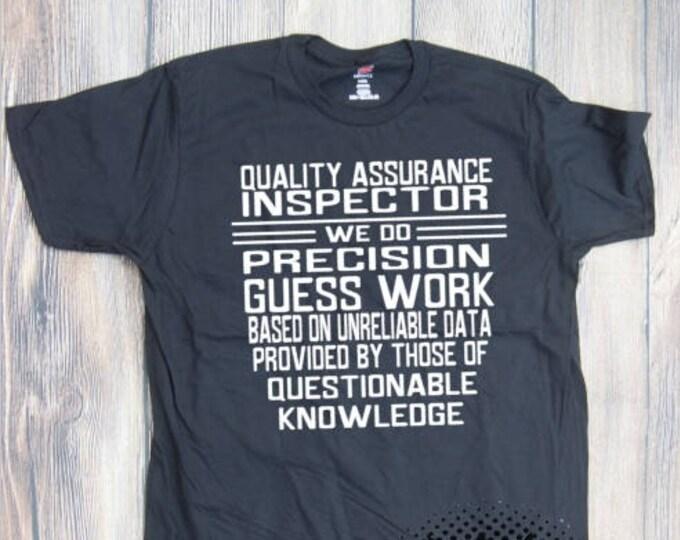 Quality Inspector Job T-shirt Adult career occupation