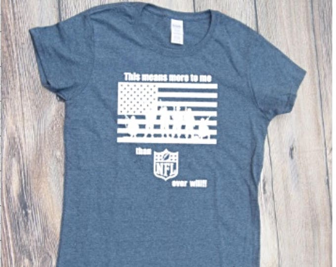 United we stand T-shirt  Adult Shirt USA Flag Respect dont Kneel Proud to be an american