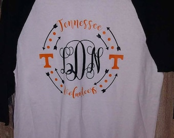 Tennessee Vols T-shirt Adult  UT Volunteers Orange White Football Neyland SEC Unisex Cotton Ball Sports