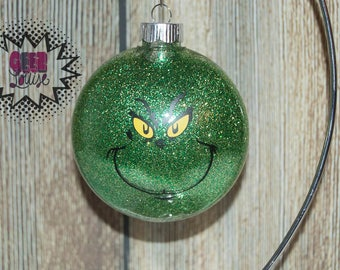 Grinch Personalized Ornament Handmade Plastic Disc Christmas Holidays Xmas Festive Decor Tree