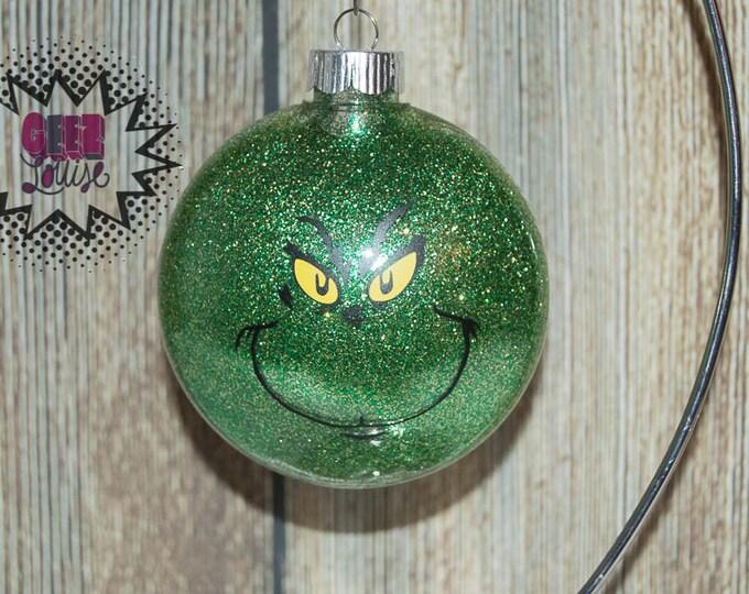Grinch Personalized Ornament Handmade Plastic Disc Christmas Holidays Xmas Festive Decor Tree