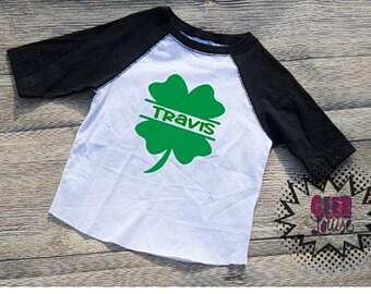 Saint Patricks Day Tshirt Shamrock Youth Kid Child Unisex Cotton  t-shirt vinyl Green St. Paddys