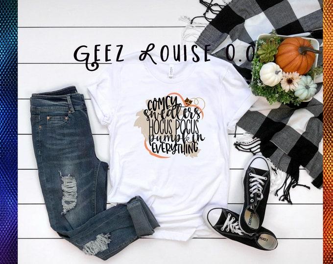 autumn fall pumpkin spice hocus pocus tshirt shirt Tee Short sleeve october flannel hayrides plaid