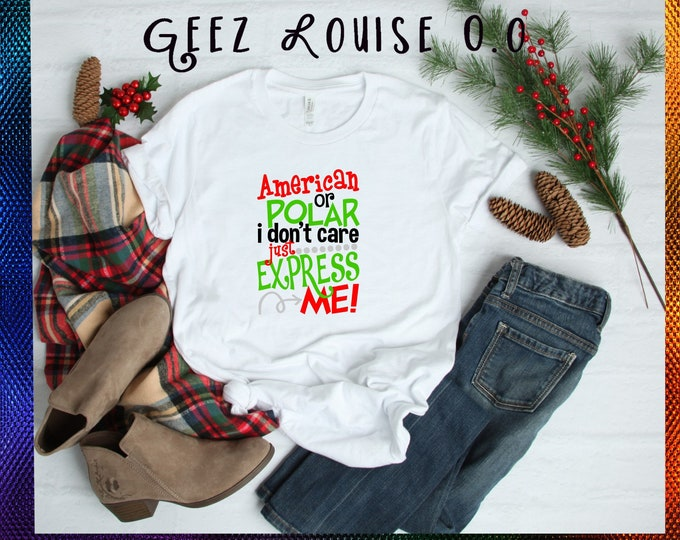 Christmas tshirt shirt Tee Short sleeve  red green hohoho santa elf holly mistletoe xmas holiday christ