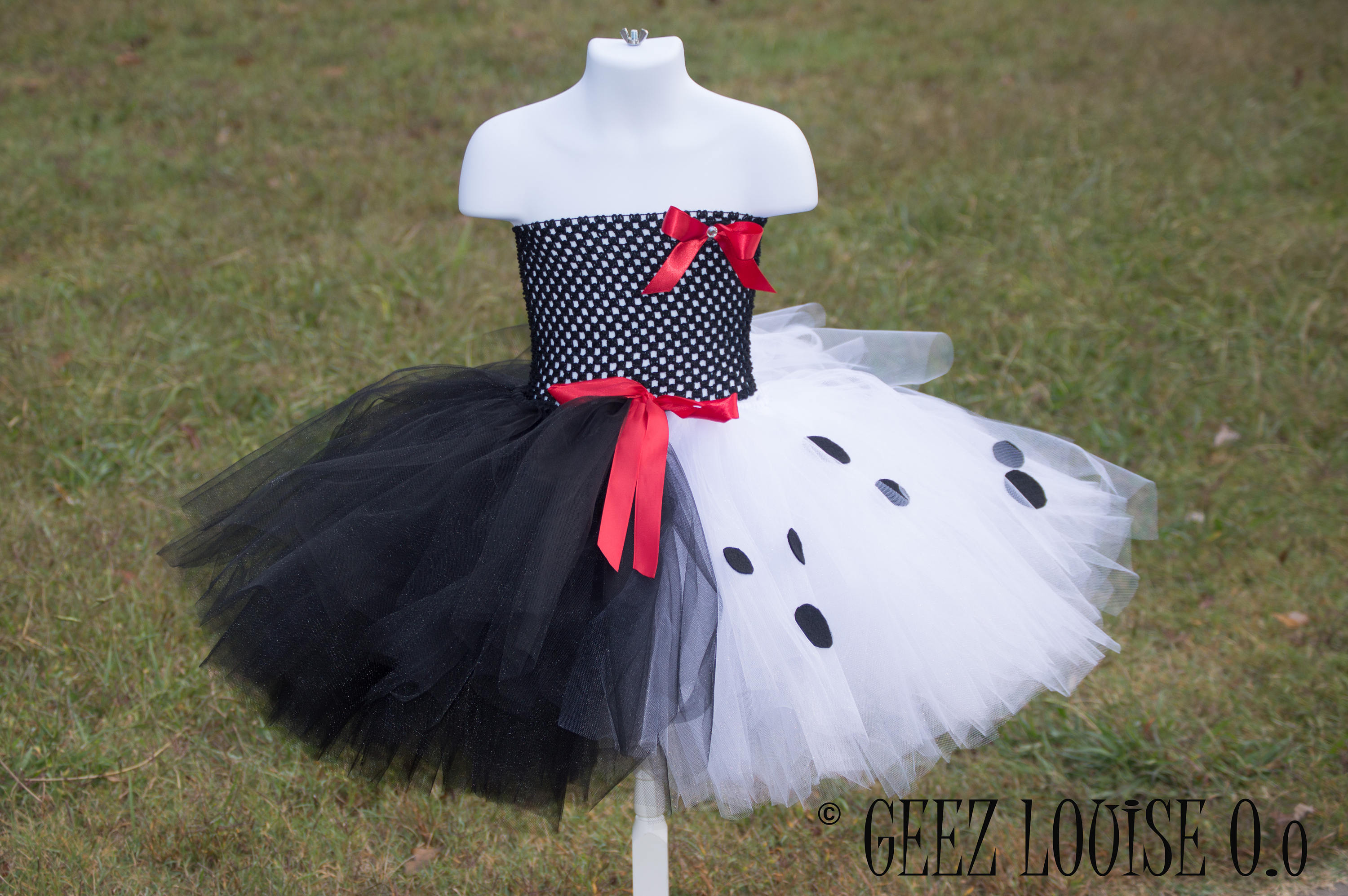 Cruella Halloween Costume Inspired Tutu Girl Skirt Boutique Bows Clothing Baby Toddler dalmatian puppy dog Outfit & Cruella Halloween Costume Inspired Tutu Girl Skirt Boutique Bows ...