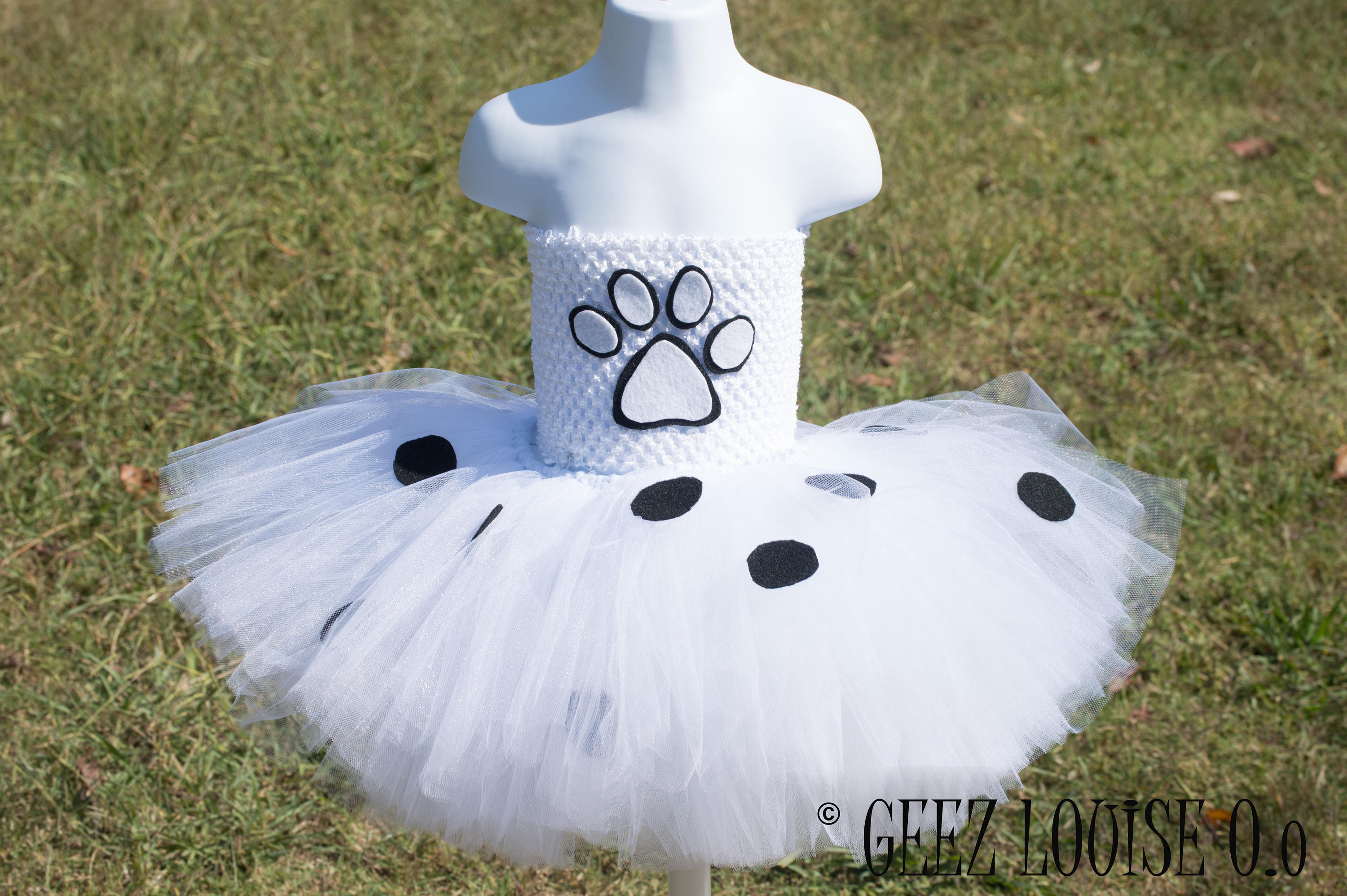 Dalmatian puppy Halloween Costume Tutu Girl Skirt Boutique Bows Clothing Baby Toddler White Black Dog Spots Outfit & Dalmatian puppy Halloween Costume Tutu Girl Skirt Boutique Bows ...