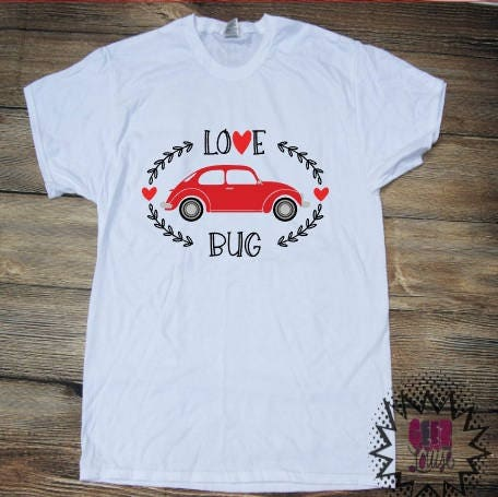 Love Bug T Shirt Adult Personalized Valentine S Day Love Heart Shirt