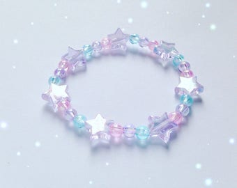 Dreamy Stars Bracelet, Fairy Kei, Sweet Lolita, Decora Kei, Jfashion etc inspired