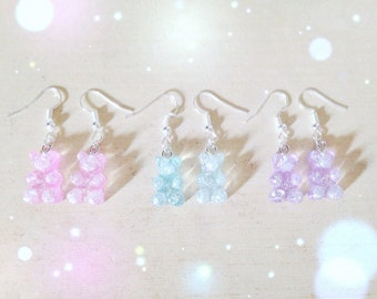 Cute Gummy Bear Earrings, Fairy Kei, Sweet Lolita, Yume Kawaii, Jfashion etc inspired