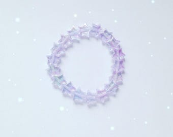 Cute Iridescent Star Bracelet, Fairy Kei, Sweet Lolita, Mahou Kei, Jfashion etc inspired