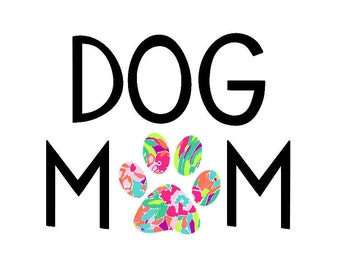 Dog Mom Decal | Lilly Dog Mom | Pet Mom | Fur Mom Decal | Dog Decal | Lilly Dog Decal | Car Decal | Custom Decal | Paw Decal | Fur Mama