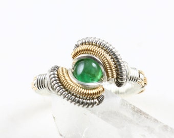Size 8 Emerald Ring