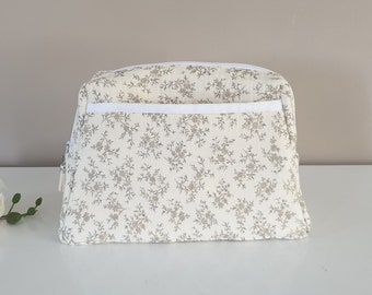 Double gauze toiletry kit with custom pockets with first name