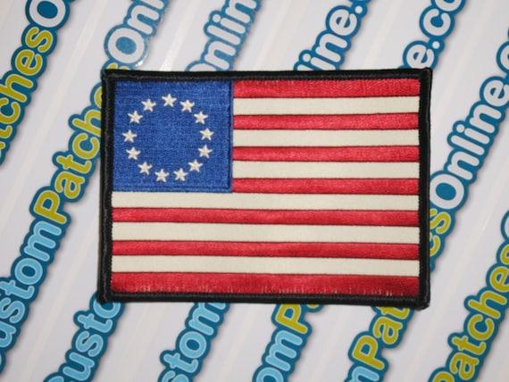 "Q Anon 3/"" Patch Follow the white Rabbit USA Flag Qanon Sticker embroidered Trump"