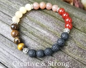 Creative & Strong - Reiki Infused Crystal Intention Bracelet