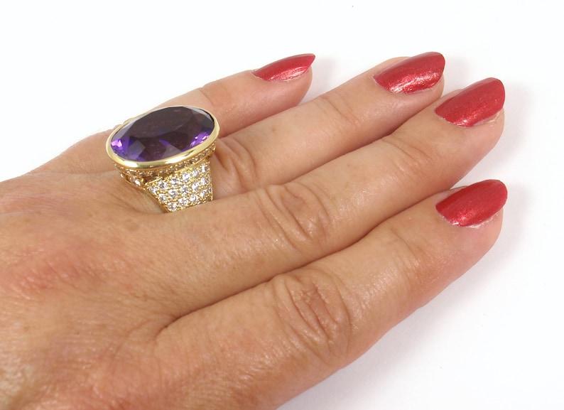 8370def3d 28.5K Vintage Tiffany & Co Picasso 18K Gold Amethyst Diamond | Etsy