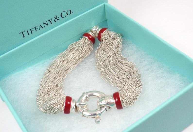 0283d669a Rare Vintage Tiffany & Co Sterling Silver Red Enamel Lifesaver | Etsy