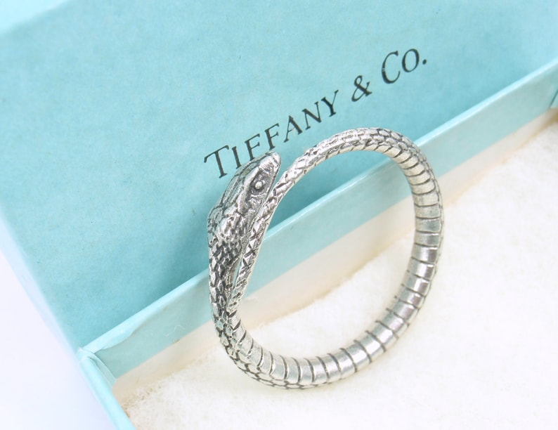 7e54d1a5d Rare Vintage Tiffany & Co Sterling Silver Textured Snake Key   Etsy