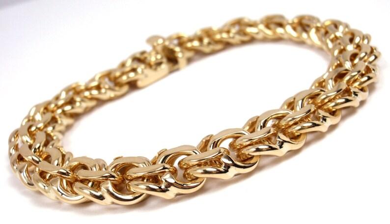 RARE Vintage Tiffany & Co 14K Yellow Gold Charm Link Bracelet 7-3/4