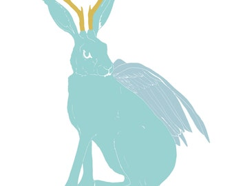 Illustration wolpertinger, imaginary creature