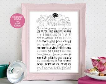 Grandma - Grandma - grandparents rules - Granny - inspirational Phrase - coloring mentor - relaxation coloring - Print