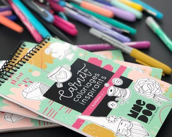Inspirational Coloring Book - Number 2 - Illustrations - Inspiring Phrase - Quote - Coloring Book - Framing Coloring
