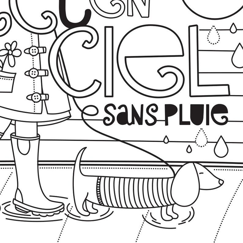 Coloriage Darc En Ciel En Ligne.Coloriage Inspirant Pluie Arc En Ciel Parapluie Phrase Inspirante Coloriage A Encadrer Coloriage De Relaxation