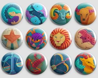 Zodiac signs -  1 Pinback Button
