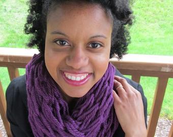 Purple infinity scarf, purple scarf, chunky scarf, purple chunky scarf, infinity scarf, knit scarf, purple knit scarf, scarf women, long