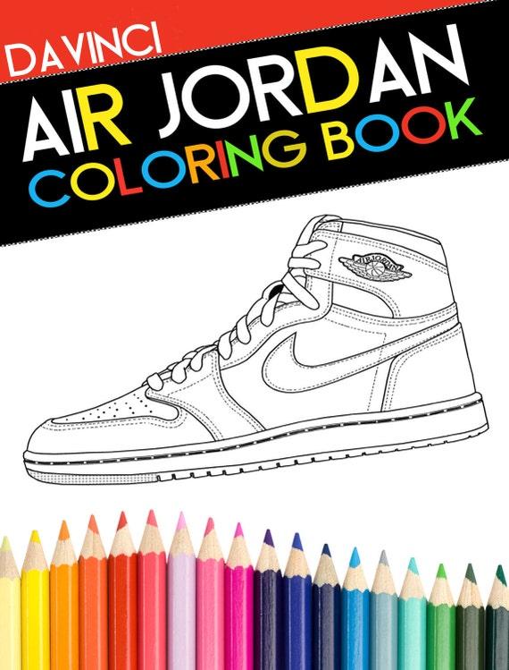 Air Jordan para colorear libro