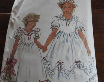 New Look 6362 Flower Girl's Dresses Sewing Pattern