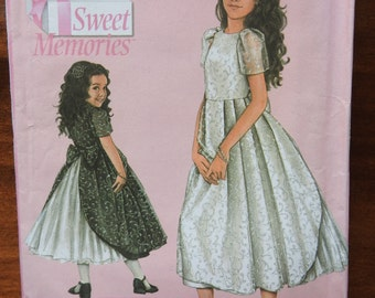 Simplicity 4899 Girl's Party or Flower Girl Dress Sewing Pattern