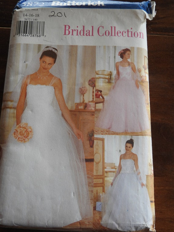 Butterick 5872 Womens Elegant Wedding Dresses And Stole Etsy