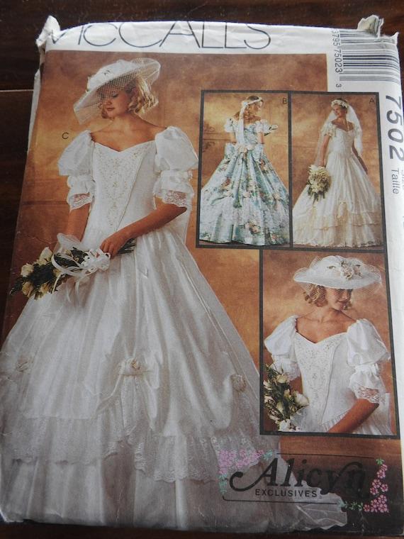 McCalls Brautkleider 7502 Jahrgang elegante Southern Belle | Etsy