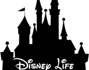 Disney Castle, Disney Life Vinyl Car Decal - Glitter available