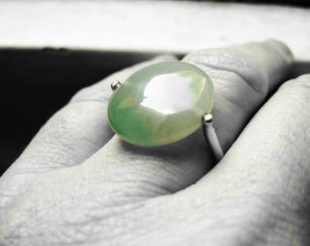 FULLY GROWN, jade - gold ring