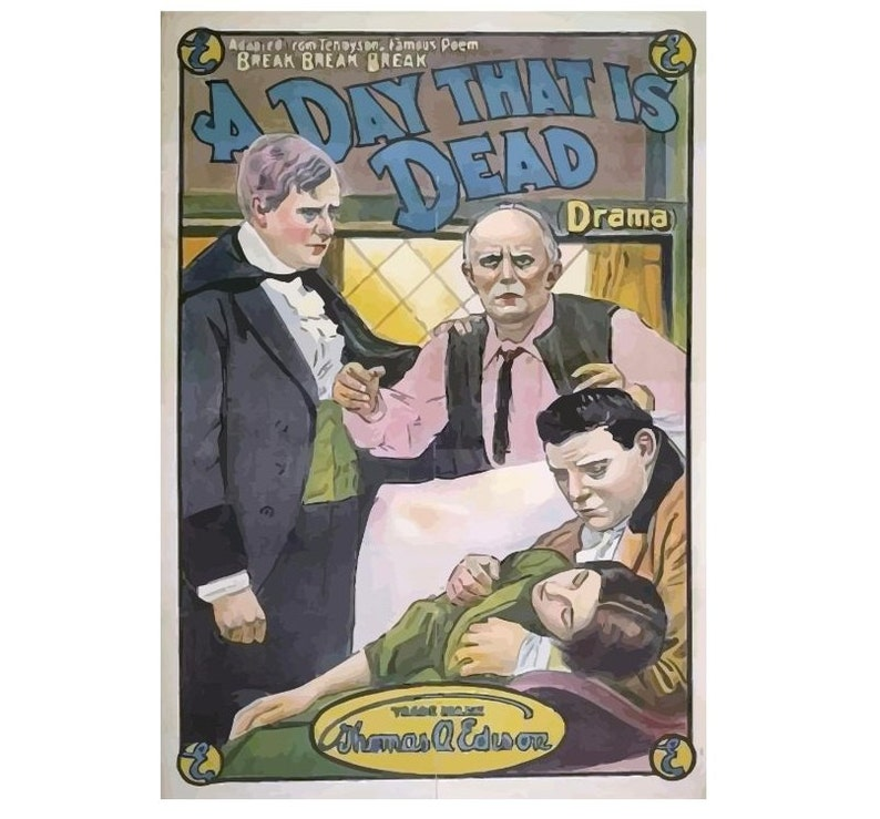 Vintage Canvas Movie Poster Giclee Art Print #2 Gallery Wrapped A Day That is Dead 1913