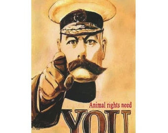Animal Right Need You Vintage Canvas Poster Giclee Art Print Gallery Wrapped
