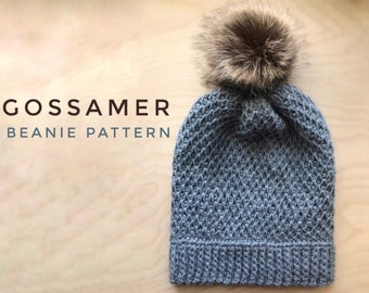 Gossamer Beanie Pattern - Tunisian Crochet Beanie Pattern - Intermediate Tunisian Pattern