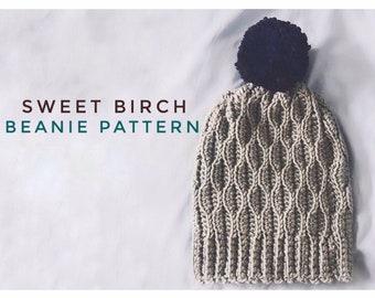 Sweet Birch Beanie Pattern - Crochet Beanie Pattern -Intermediate Crochet Beanie Pattern