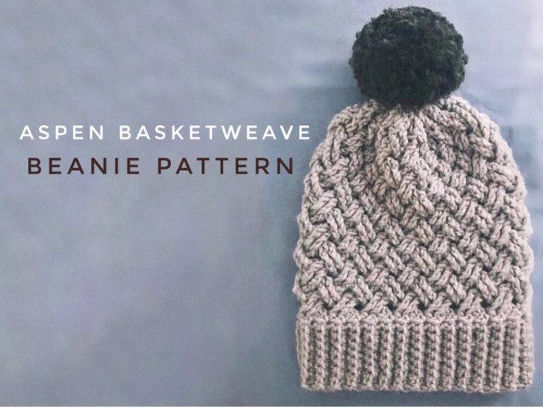 aa1eeb3430b Aspen Basket Weave Beanie Pattern Crochet Beanie Pattern