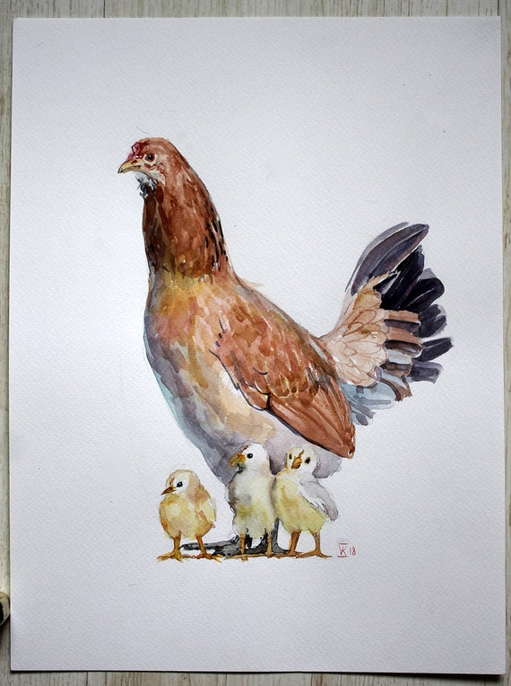 watercolor illustration kitchen decor painting watercolor farm | etsy