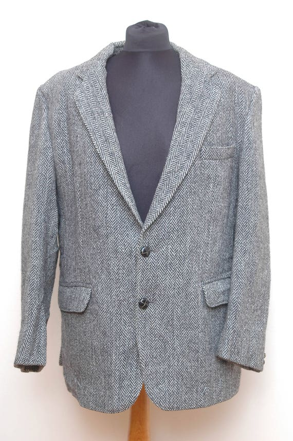 Mens Harris Tweed Jacket Austin Reed Size Large Etsy