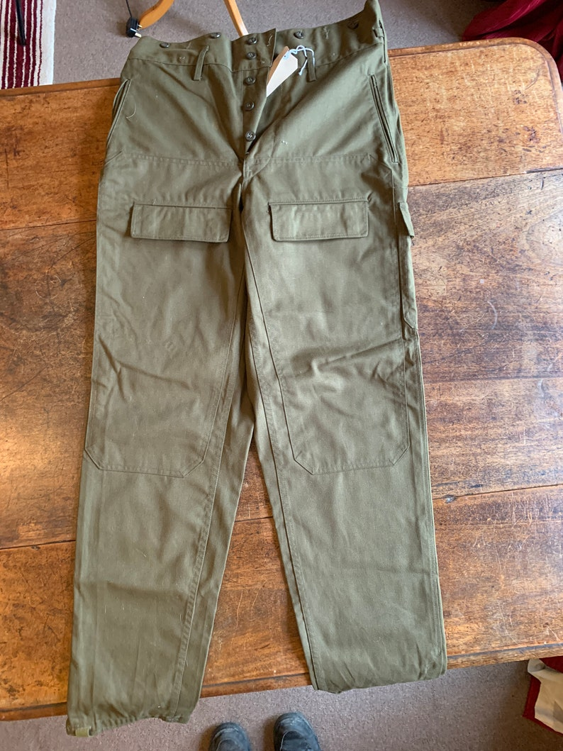 f8c65c833 Vintage Green Military ARmy Cargo Pants OZKN Presov Slovakia | Etsy